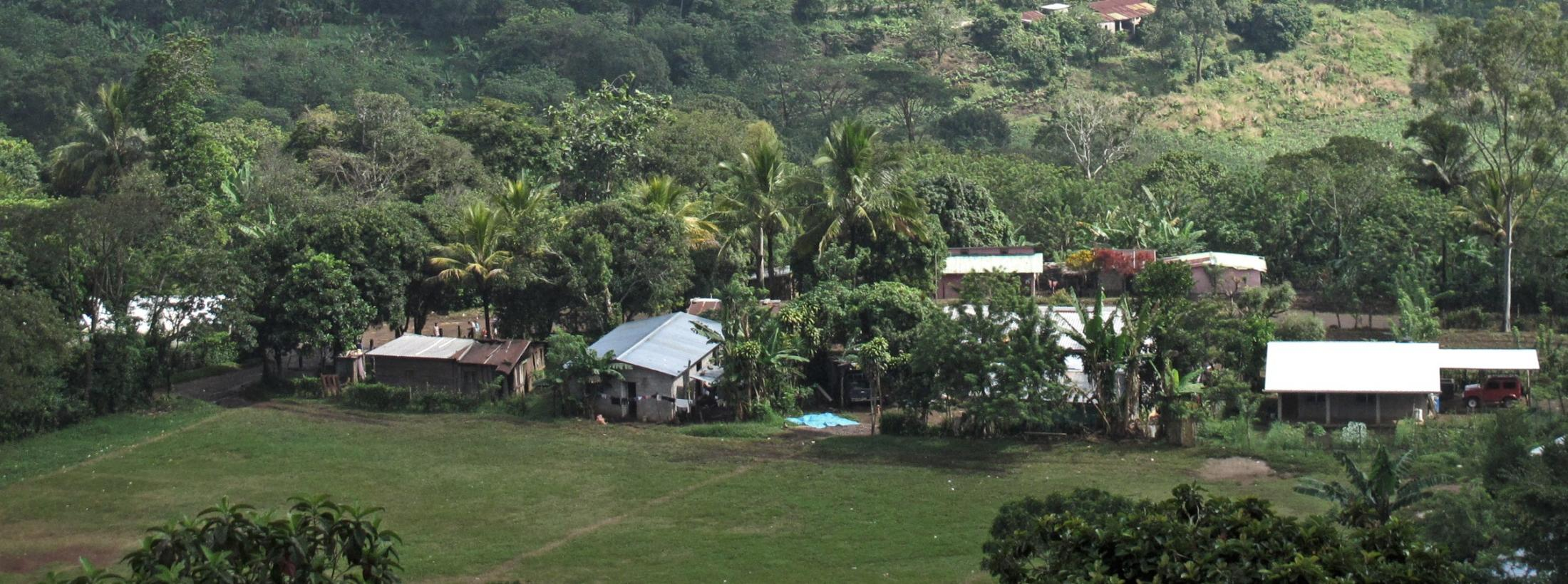 Aerial view of Las Lomitas, Honduras