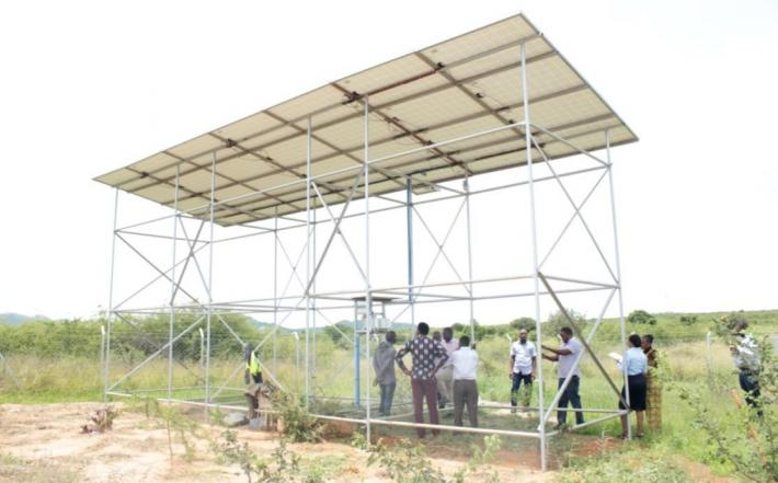 the new solar powered water system in the village of Nghongonha