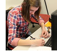 Student participates in new hands-on course