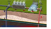 Geothermal energy illustration